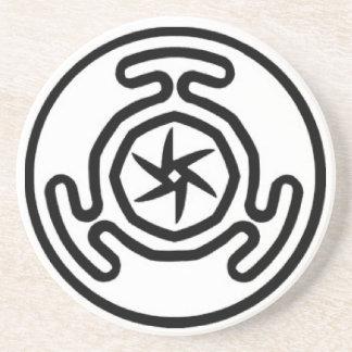 Hekate's Wheel Offering Disk Sandstone Coaster