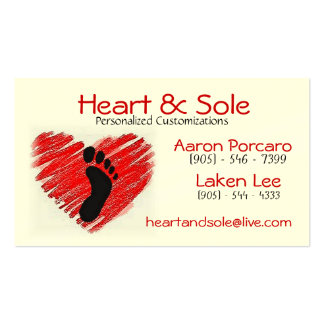 hekkkart, Heart Double-Sided Standard Business Cards (Pack Of 100)