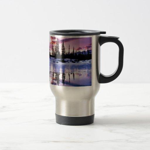 Helada de la tarde del invierno taza de café