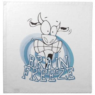 Helada del cerebro con la servilleta de la vaca