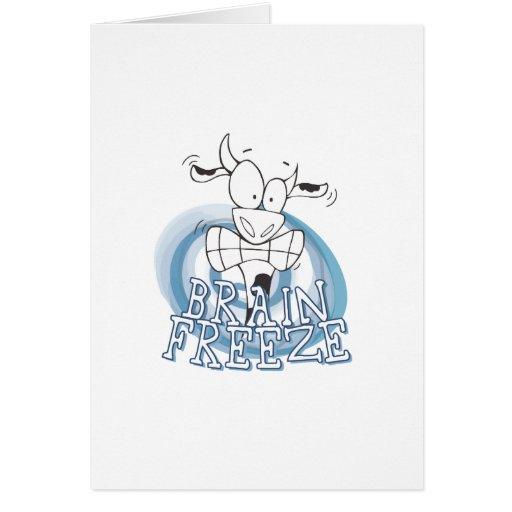 Helada del cerebro con la vaca felicitacion
