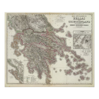 Hélade, Ionischen Inseln - Grecia Poster