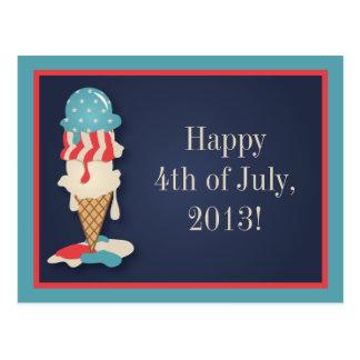 Helado 4to de la postal del fiesta de julio