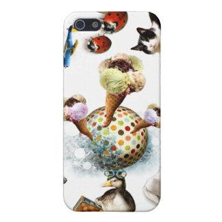 Helado/animales lindos iPhone 5 funda