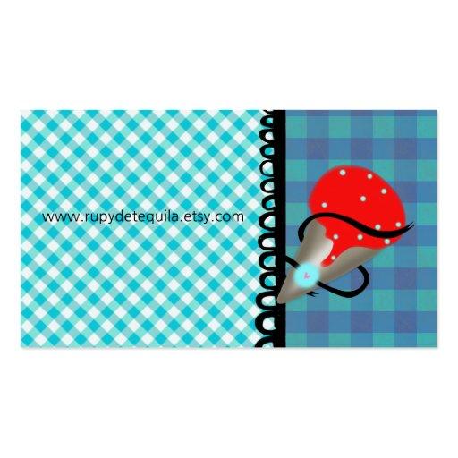 Helado azul de fresa de la guinga tarjetas de visita