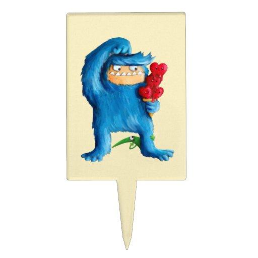 Helado azul del monstruo figura de tarta