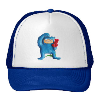 Helado azul del monstruo gorras