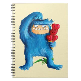 Helado azul del monstruo note book