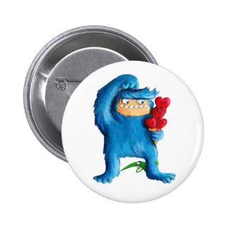 Helado azul del monstruo chapa redonda 5 cm