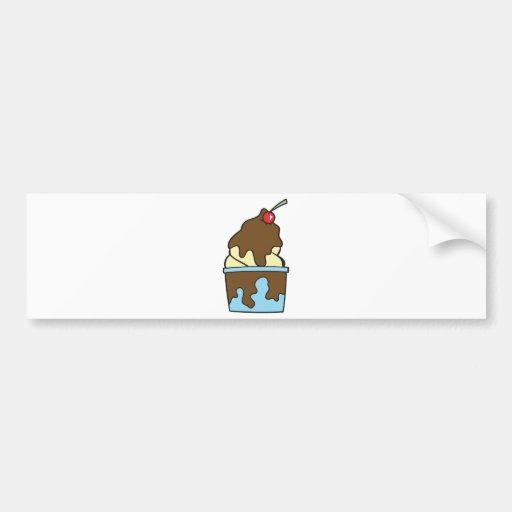 helado caliente del dulce de azúcar de la vainilla etiqueta de parachoque