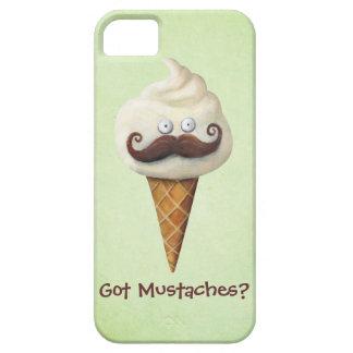 Helado con los bigotes iPhone 5 funda