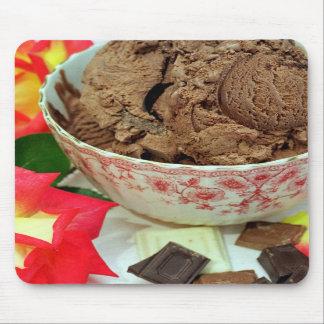 Helado de chocolate alfombrillas de ratones