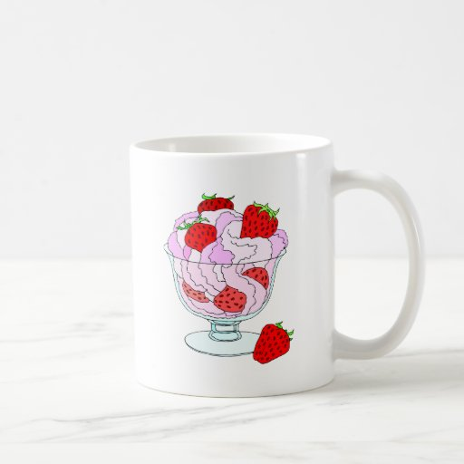 Helado de fresa taza clásica