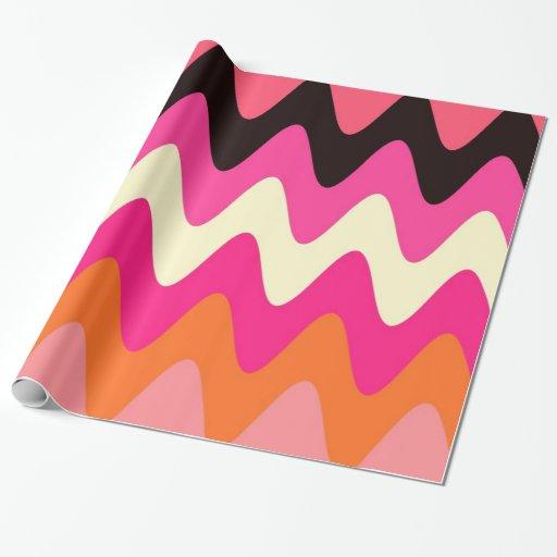Helado de fusión - papel de embalaje rosado de papel de regalo