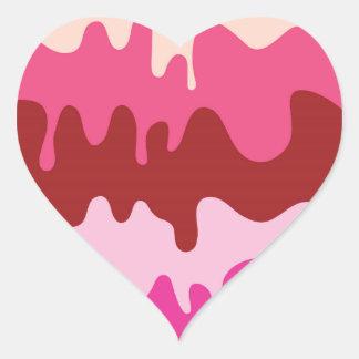 Helado de fusión - pegatina del corazón