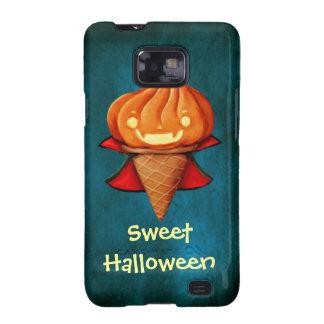 Helado de la calabaza del vampiro de Halloween Samsung Galaxy S2 Fundas