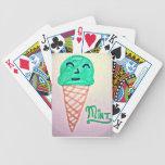 Helado de la menta cartas de juego