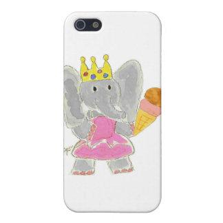 Helado de la princesa del elefante iPhone 5 coberturas
