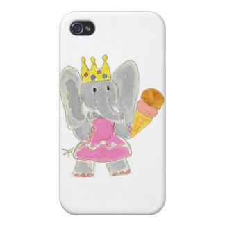 Helado de la princesa del elefante iPhone 4/4S carcasas