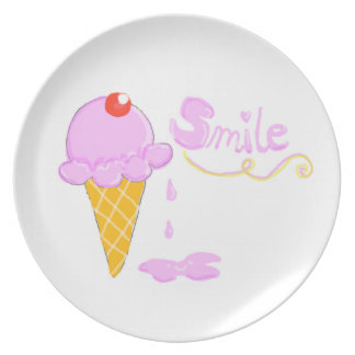 Helado de la sonrisa plato