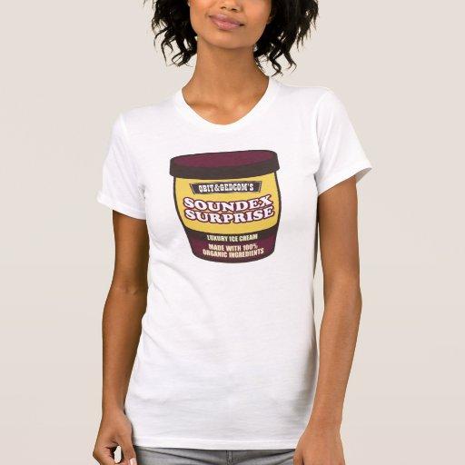 Helado de la sorpresa de Soundex Camisetas