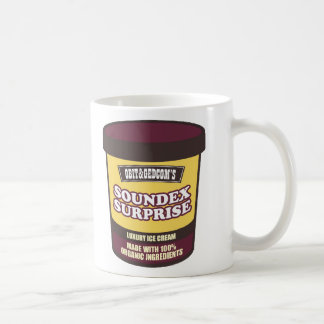 Helado de la sorpresa de Soundex Taza Clásica