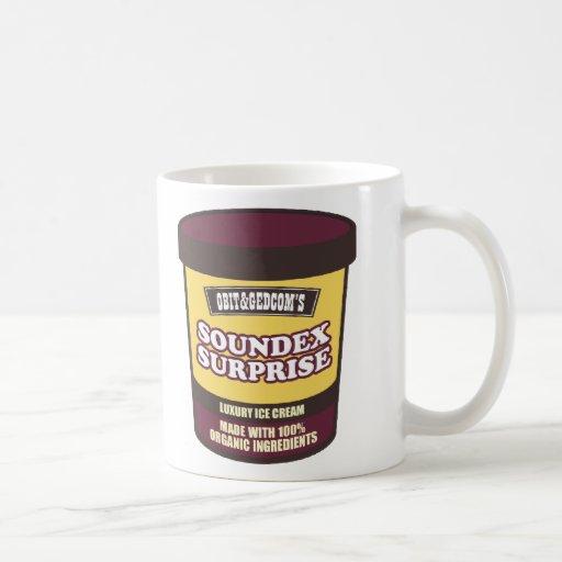 Helado de la sorpresa de Soundex Tazas De Café