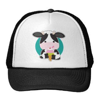 Helado de la vaca gorro de camionero