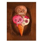 Helado de los cráneos del azúcar tarjeta postal