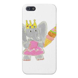 Helado de princesa Elephant Birthday iPhone 5 Coberturas