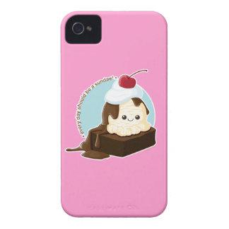 Helado del brownie iPhone 4 Case-Mate carcasas