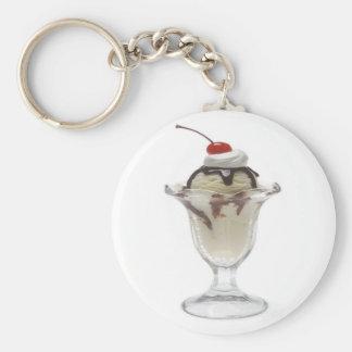 Helado del helado de chocolate llavero personalizado