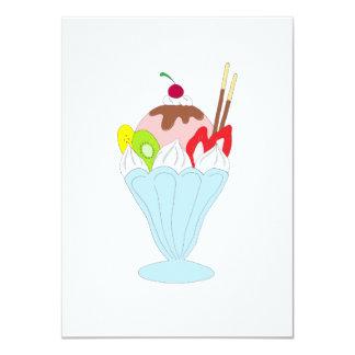 """Helado del helado invitación 4.5"""" x 6.25"""""""