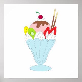 Helado del helado impresiones