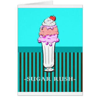 Helado del helado - precipitación del azúcar tarjeta de felicitación