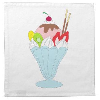 Helado del helado servilletas