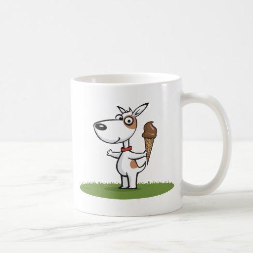 Helado del perro taza