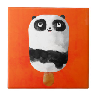 Helado del Popsicle de la panda Tejas Ceramicas