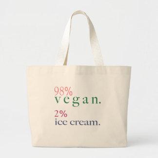 Helado del vegano el 2% del 98% bolsas lienzo