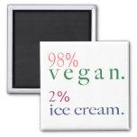 Helado del vegano el 2% del 98% iman para frigorífico