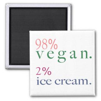 Helado del vegano el 2 del 98 iman para frigorífico