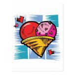 Helado en forma de corazón del día de V Postal