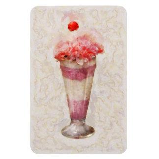 - Helado - flotador dulce del helado Imán De Vinilo