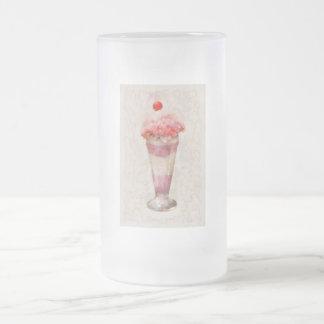 - Helado - flotador dulce del helado Taza De Café