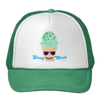 Helado fresco de la estancia gorras