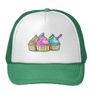 helado fresco de la vaca gorras de camionero