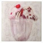 - Helado - helado dulce del helado Teja Cerámica