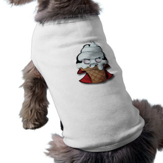 Helado lindo dulce del vampiro camiseta de perrito