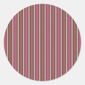 Helado napolitano de las anchuras multi verticales pegatina redonda