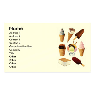 Helado nombre dirección 1 dirección 2 contacto tarjetas de visita